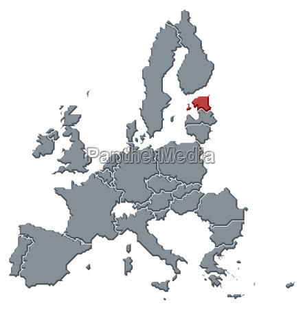 mapa de la union europeaestonia destaco