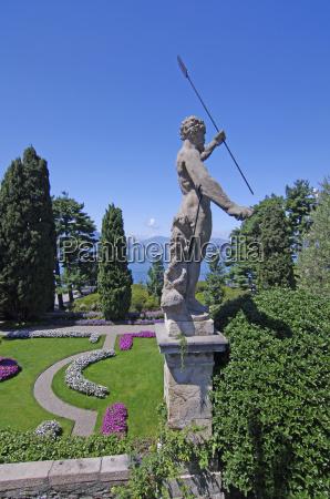historia estatua italia lago maggiore insel