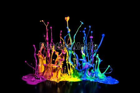 salpicaduras, de, pintura, de, colores, sobre - 12952694