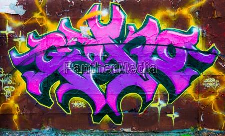 hormigon cartas purpura grafiti pintura simbolos