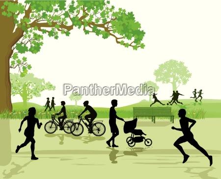 recreacion y deportes en el parque