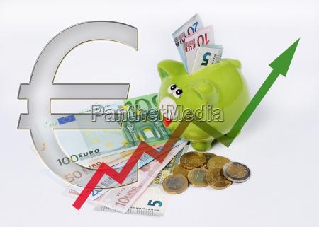con exito exitoso grafico moneda europa