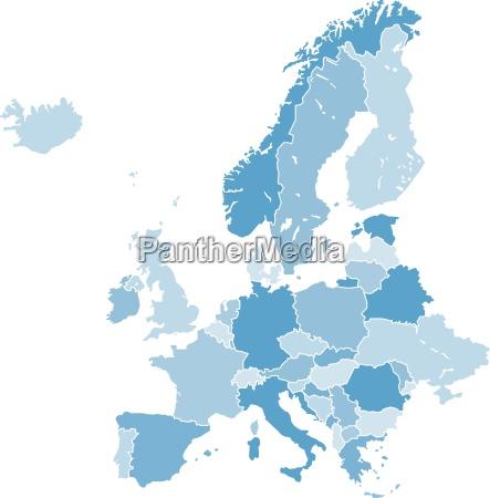 liberado opcional grafico europa mapa palido