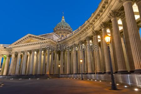kazan cathedral st petersburg russia europe