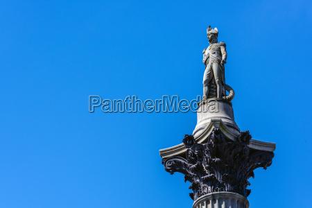 nelsons column trafalgar square london england